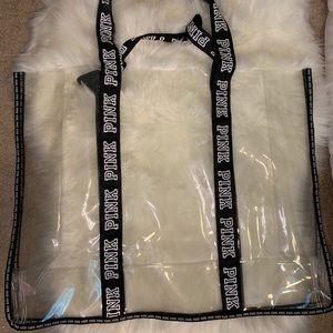 Clear Victoria's Secret bag